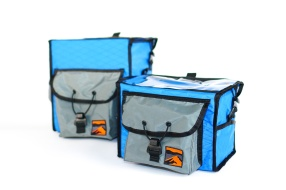 Front of Small and Large Rando bags