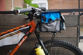 Side View of Rando Bag on Surly Troll with Jones H Bar