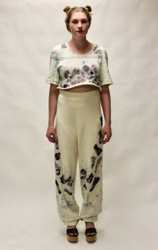 Wholegarment knit set front view