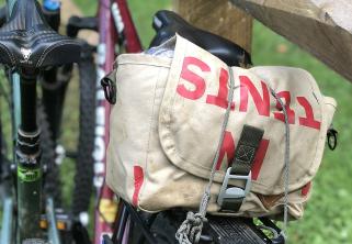 Double Take Bag on Bike Rack