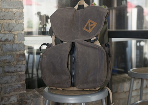 Waxed Canvas Day Backpack